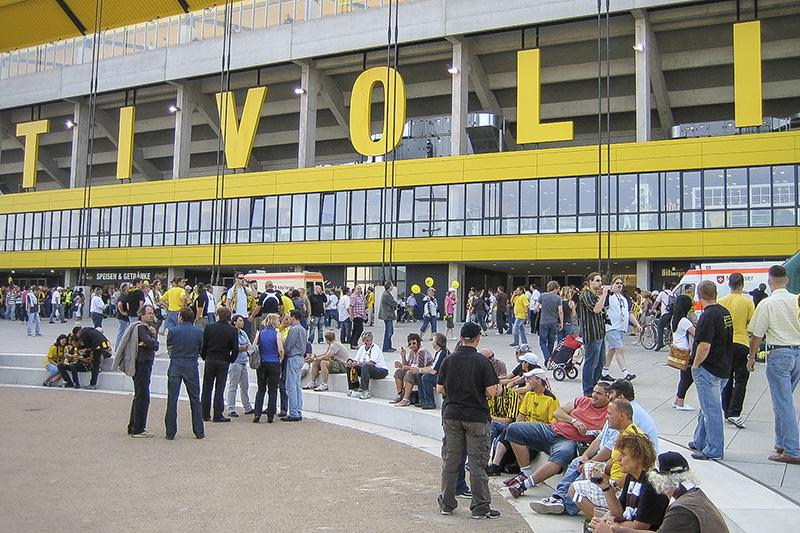 Vorplatz Fussballstation Trivoli Aachen